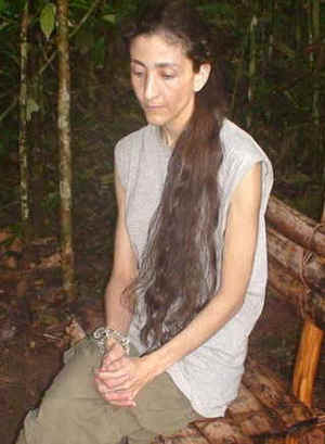 Ingrid Betancourt in captivity, 23 October 2007