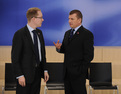 Swedish minister for migration and asylum policy Tobias Billström and Slovenian minister of the interior Dragutin Mate