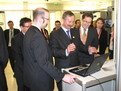 Vice-President of the European Commission Siim Kallas  and Slovenian Minister Gregor Virant at the exhibition