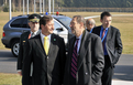 Arrival of Slovenian Defence Minister Karl Erjavec and High Representative for the Common Foreign and Security Policy Javier Solana to Brdo
