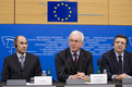 Joint Press conference by Janez Janša, Prime minister of Slovenia and President-in-office of the Council, Hans-Gert Pöttering, President of the European Parliament, and Jose Manuel Barroso, President of the European Commission