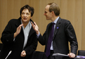 German Federal Minister of Justice Brigitte Zypries and Luc Frieden, Luxembourg Minister of Justice