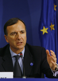 European Commissioner Franco Frattini at Presidency press conference