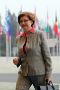 Arrival of Marjeta Cotman, slovene Minister of Labour, Family and Social Affairs
