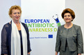 Slovenian Minister of Health Zofija Mazej Kukovič and the European Commissioner for Health Androulla Vassiliou