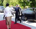 Arrival of the President of the European Commission José Manuel  Barroso to the Brdo Castle