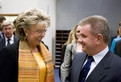European Commissiner for Information Society and Media Viviane Reding and Slovenian Minister of Economy Andrej Vizjak