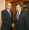 President of the European Council, Slovenian Prime Minister Janez Janša and Irish Prime Minister Brian Cowen