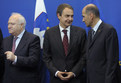 Spanish Foreign Affairs Minister Miguel Angel Moratinos,  Spanish PM José Luis Rodríguez Zapatero and Janez Janša
