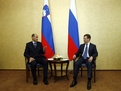 Tête-à-tête talk of the Prime Minister Janez Janša and Russian President Dmitry Medvedjev