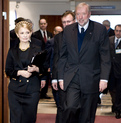 Ukrainian Prime Minister Yulia Tymoshenko and Slovenian Minister for Foreign Affairs Dimitrij Rupel prior to a meeting of the EU – Ukraine Cooperation Council