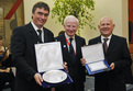 Milan Zver, Slovenian Minister of Education and Sport, Patrick Joseph Hickey, President of the European Olympic Commitees, and Janez Kocijančič, President of the Slovenian Olympic Commitee