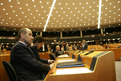 President of the European Council Janez Janša prior to the start of the Extraordinary Plenary Session of the European Parliament