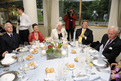 Table of the dinner host, Minister Iztok Jarc and his wife Helena