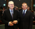 Slovenian minister of justice Lovro Šturm and Slovenian minister of the interior Dragutin Mate